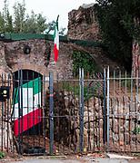 Ingresso del circolo di Colle Oppio, sede storica dell'MSI, Roma. | Colle Oppio the first party headquarters of Movimento Sociale Italiano.