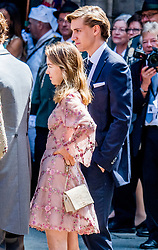 Princess Caroline and Ernst August of Hanover Sr daughter Princess Alexandra of Hanover at the Wedding ceremony of heir of the throne of German House of Hanover, Prince Ernst August Jr. of Hanover, Duke of Braunscshweig and Lueneburg, and Russian designer Ekaterina Masysheva at the Marktkirche church in Hanover, Germany, 08 July 2017. The son of Prince Ernst August of Hanover Sen., who is married to Princess Caroline of Monaco, is related to several royal houses in Europe. The House of Hanover is a German royal dynasty that also ruled the United Kingdom between. Ernst-August Sr.'s own father (Ernst-August IV) opposed his son's marriage to first wife Chantal, a Swiss commoner. Photo by Robin Utrecht/ABACAPRESS.COM