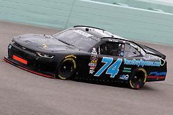 November 16, 2018 - Homestead, FL, U.S. - HOMESTEAD, FL - NOVEMBER 16: Timothy Viens, driver of the #74 811Fitness.com Chevy, during practice for the NASCAR Xfinity Series playoff race, the Ford EcoBoost 300 on November 16, 2018, at Homestead-Miami Speedway in Homestead, FL. (Photo by Malcolm Hope/Icon Sportswire) (Credit Image: © Malcolm Hope/Icon SMI via ZUMA Press)