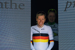 Trixi Worrack enters the stage after her third place finish - Ronde van Drenthe 2016, a 138km road race starting and finishing in Hoogeveen, on March 12, 2016 in Drenthe, Netherlands.