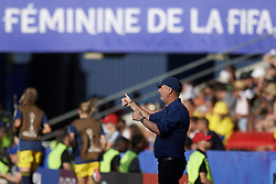 June 29, 2019 - Rennes, France - Peter Gerhardsson head coach of Sweden gives instructions during the 2019 FIFA Women's World Cup France Quarter Final match between Germany and Sweden at Roazhon Park on June 29, 2019 in Rennes, France. (Credit Image: © Jose Breton/NurPhoto via ZUMA Press)