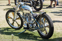 BF8 Invited builders Big Truth and Jay Medeiros' 1961 Triumph Pre Unit custom at the Born Free 8 Motorcycle Show. Silverado, CA, USA. June 26, 2016.  Photography ©2016 Michael Lichter.