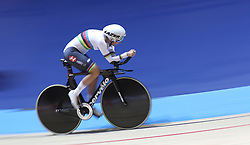 Great Britain's Crystal Lane-Wright on her way to winning the C5 Pursuit final, during day three of the Manchester Paracycling International at the HSBC UK National Cycling Centre, Manchester.
