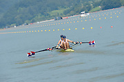 Chungju, South Korea  USA W2X, Bow, Meghan O'LEARY and Ellen TOMEK, move away from the start at the 2013 FISA World Rowing Championships,  at the Tangeum Lake International Regatta Course. 11:24:11  Monday  26/08/2013 [Mandatory Credit. Peter Spurrier/Intersport Images]
