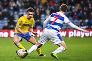 Leeds United Midfielder Jamie Shackleton (46) and Queens Park Rangers Midfielder Luke Freeman (7) in action during the The FA Cup match between Queens Park Rangers and Leeds United at the Loftus Road Stadium, London, England on 6 January 2019.