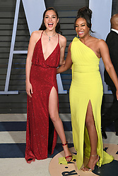 Gal Gadot (left) and Tiffany Haddish arriving at the Vanity Fair Oscar Party held in Beverly Hills, Los Angeles, USA.