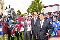 October 1, 2017 - Chantilly, France - Course 3 - Gazwan - Maxime Guyon - Julian Smart - Cheik Mohammed Bin Khalifa Al Thani (Credit Image: © Panoramic via ZUMA Press)