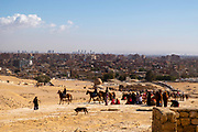 Vista of Giza looking from west of the Great Sphinx towards Giza and Cairo; Giza Pyramid Complex, Giza, Egypt.