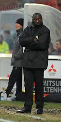 Burton Albion Manager, Jimmy Floyd Hasselbank. - Photo mandatory by-line: Nizaam Jones/JMP - Mobile: 07966 386802 - 07/02/2015 - SPORT - Football - Cheltenham - Whaddon Road - Cheltenham Town v Burton Albion- Sky Bet League Two
