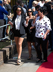 © Licensed to London News Pictures. 21/08/2018. Ashtead, UK. Mourners attend the funeral of Mikey Connors at St Michaels Church in Ashtead. 32 year-old Mikey Connors, the nephew of My Big Fat Gypsy Wedding star Paddy Doherty, was killed when his horse-and-cart was hit by a car in Thamesmead on July 28. Photo credit: Peter Macdiarmid/LNP