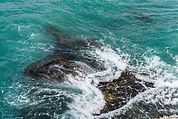 Wave break over a reef, Arniston, Western Cape, South Africa