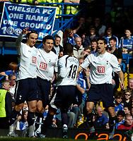 Photo: Ed Godden/Sportsbeat Images.<br /> Chelsea v Tottenham Hotspur. The FA Cup. 11/03/2007.<br /> Spurs' Dimitar Berbatov (L) celebrates his opening goal with his team mates.