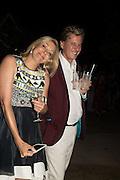NADJA SWAROVSKI; ROB HERSOV, Serpentine's Summer party co-hosted with Christopher Kane. 15th Serpentine Pavilion designed by Spanish architects Selgascano. Kensington Gardens. London. 2 July 2015.