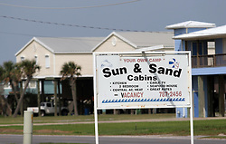 13 May 2010. Grand Isle, Lafourche Parish, Louisiana. <br /> A disaster for the local economy, holiday lets have plummeted and thousands have been cancelled as oil lands on the beaches of Jefferson and Lafourche parishes to the west of the Mississippi River outlet. Oil from the Deepwater Horizon catastrophe is evading booms laid out to stop it thanks in part to the dispersants which means the oil travels at every depth of the Gulf. <br /> Photo credit; Charlie Varley/varleypix.com