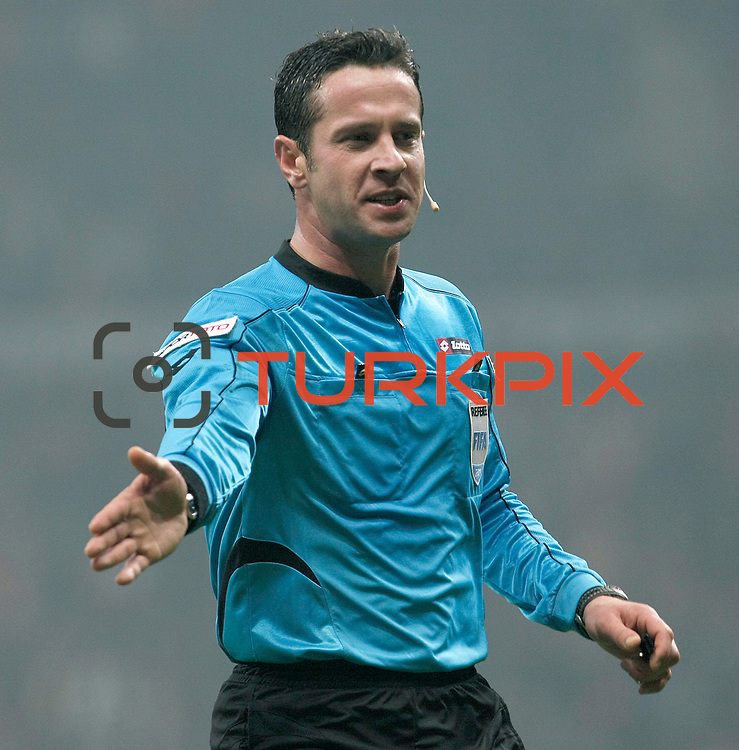 Referee's Halis Ozkahya during their Turkish Super League soccer match Galatasaray between IBBSpor at the TT Arena at Seyrantepe in Istanbul Turkey on Tuesday, 03 January 2012. Photo by TURKPIX