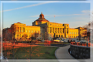 The Library of Congress at Sunset, Washington DC <br />