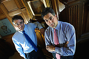 Editorial photograph of Brothers Andrew and  Robbie  Douglas Miller, joint Directors of Jenners Edinburgh. 22.05.01.