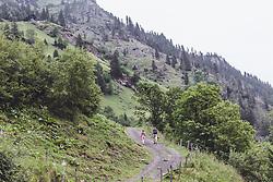 THEMENBILD - ein Mann und eine Jugendliche waehrend einer Wanderung entlang des Wasserfallweges, aufgenommen am 28. Juli 2019 in Fusch a. d. Grossglocknerstrasse, Oesterreich // a man and a teenager during a hike along the waterfall trail in Fusch a. d. Grossglocknerstrasse, Austria on 2019/07/28. EXPA Pictures © 2019, PhotoCredit: EXPA/Stefanie Oberhauser