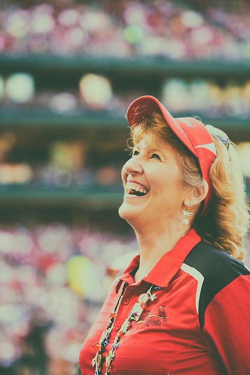 Game Day Smiles Watching Saint Louis Cardinals Baseball