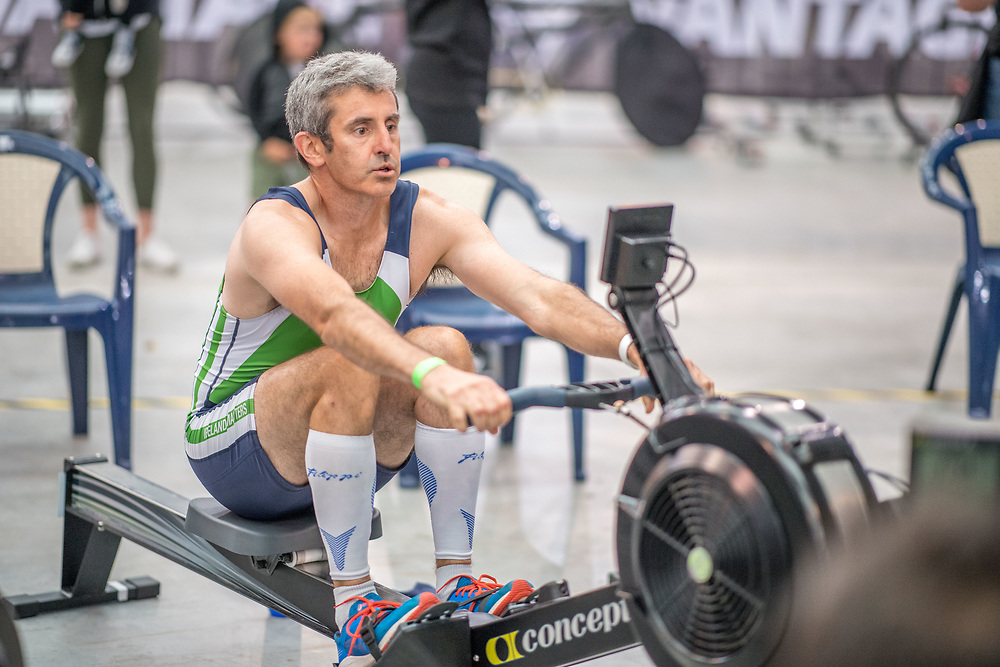 Ger Sheehan MALE HEAVYWEIGHT Masters C 1K Race #10  11:30am<br /> <br /> <br /> www.rowingcelebration.com Competing on Concept 2 ergometers at the 2018 NZ Indoor Rowing Championships. Avanti Drome, Cambridge,  Saturday 24 November 2018 © Copyright photo Steve McArthur / @RowingCelebration