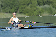 Banyoles, SPAIN,   GBR M1X  Ian LAWSON, training session FISA World Cup Rd 1. Lake Banyoles  Thursday 29/05/2009   [Mandatory Credit. Peter Spurrier/Intersport Images]