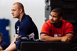 Andrew Turner and Bryan Byrne look on as Bristol Bears start to use their new almost completed Training centre - Rogan/JMP - 08/07/2020 - RUGBY UNION - Beggar Bush Lane - Bristol, England.