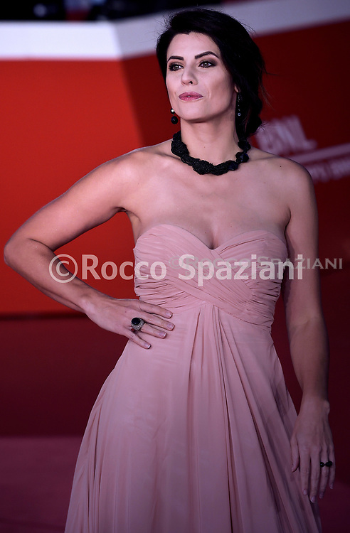 """ROME, ITALY - OCTOBER 18: Jennifer Mischiati, attends the """"Pavarotti"""" red carpet during the 14th Rome Film Festival on October 18, 2019 in Rome, Italy."""