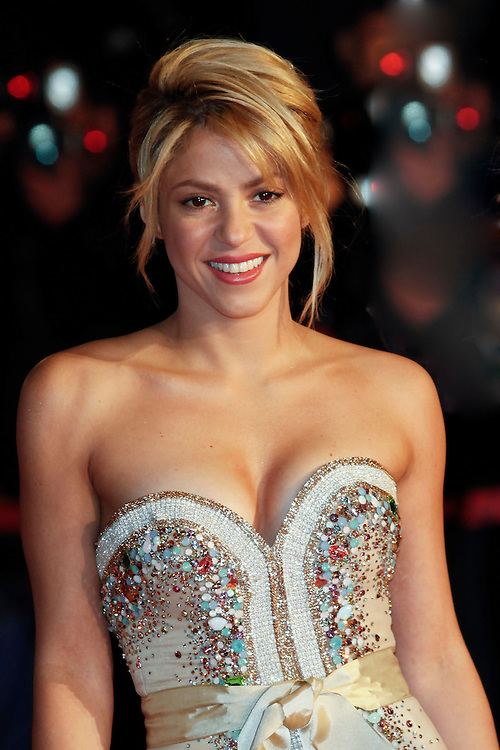 Shakira arrives for the NRJ Music Awards 2012 at Palais des Festivals on January 28, 2012 in Cannes.Shakira arrive pour la NRJ Music Awards 2012 au Palais des Festivals le Janvier 28 2012 à Cannes.
