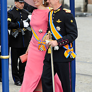NLD/Amsterdam/20130430 - Inhuldiging Koning Willem - Alexander, prinses Mathilde and partner prince Filip of Belgium