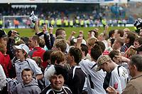 Photo: Glyn Thomas.<br />Chesterfield v Swansea City. Coca Cola League 1. 06/05/2006.<br />Swansea fans celebrate.