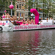NLD/Amsterdam//20170805 - Gay Pride 2017, Boot Pink Pillow powered by visit Berlin