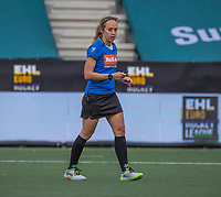 AMSTELVEEN - scheidsrechter Laurine Delforge (Bel) tijdens de halve finale wedstrijd dames EURO HOCKEY LEAGUE (EHL),  Amsterdam-HC Den Bosch. (1-1) Den Bosch wint shoot outs en plaats zich voor de finale.  COPYRIGHT  KOEN SUYK