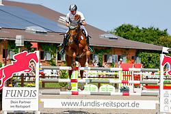 09, Youngster-Springprfg. Kl. M**  6-8j. Pferde,, Ehlersdorf, Reitanlage Jörg Naeve, 15. - 18.07.2021, Thomas Voss (GER), Mister Zinedine,