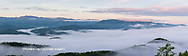 66745-04609 Sunrise and fog on Foothills Parkway Great Smoky Mountains National Park TN