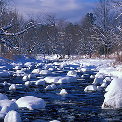 The National Wild and Scenic Wildcat River.  White Mountains.  'Snow Muffins.'  Jackson, NH