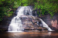 A wonderful waterfall from the Mountain Bridge Wilderness Area in northern South Carolina.
