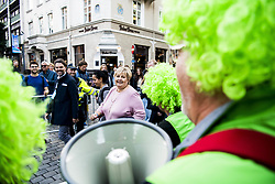 September 23, 2017 - Bergen, NORWAY - 170923 Erna Solberg, Prime Minister of Norway, after the award ceremony after the Women Elite Road Race on September 23, 2017 in Bergen..Photo: Jon Olav Nesvold / BILDBYRN / kod JE / 160028 (Credit Image: © Jon Olav Nesvold/Bildbyran via ZUMA Wire)