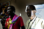 Abdallah Wambere and Sam Ganaafat speak to the LGBT community and thier supporters at  a conference for homosexuals living in Kampala Uganda. The meeting was the first attempt by the LGBT community in Uganda to unite people against a proposed anti-homosexuality bill in the countries parliment.