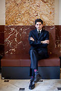 """Franz Kafka """"Doppelgänger"""" Marek Lentvorsky (21) portrayed in the entrance area of the Goethe Institut."""