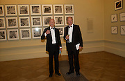 Allen Jones and Nicholas Logsdail. Royal Academy Annual dinner to celebrate the opening of the Summer exhibition. Royal Academy. Piccadilly. London. 1 June 2005.  ONE TIME USE ONLY - DO NOT ARCHIVE  © Copyright Photograph by Dafydd Jones 66 Stockwell Park Rd. London SW9 0DA Tel 020 7733 0108 www.dafjones.com