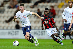 Alan Browne of Preston North End and Christian Atsu of Bournemouth - Mandatory byline: Matt McNulty/JMP - 07966386802 - 22/09/2015 - FOOTBALL - Deepdale Stadium -Preston,England - Preston North End v Bournemouth - Capital One Cup - Third Round