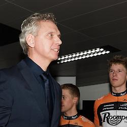 02-01-2015: Wielrennen: Presentatie Roompot Orange Cycling Team: Rotterdam<br /> Jean Paul van Poppel klaar voor zijn niuewe klus bij Roompot