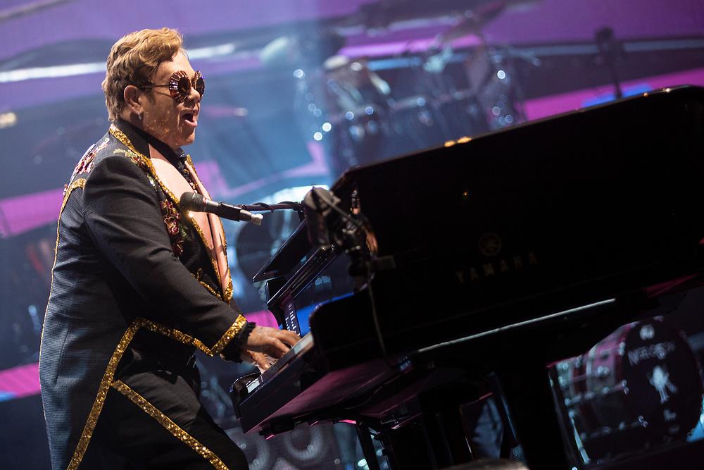 Elton John brings his farewell tour to the Fiserv Forum in Milwaukee, WI on October 19, 2019.