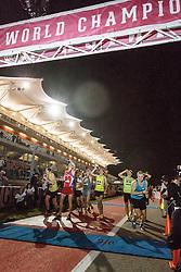 Beer Mile World Championships, Inaugural, Men's Elite race, first beer