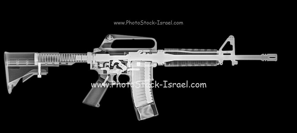 M4 (m16A2) Assault rifle under x-ray