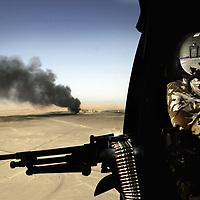 Basra iol burners Iraq Picture David Cheskin.Sept 03