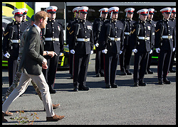 September 13, 2018 - Lympstone, United Kingdom - Image licensed to i-Images Picture Agency. 12/09/2018. Lympstone , United Kingdom. Prince Harry, The Duke of Sussex during  a visit at  the Royal Marines Commando Training Centre in Lympstone, Devon, United kingdom,  for the first time in his role as Captain General Royal Marines. (Credit Image: © Stephen Lock/i-Images via ZUMA Press)