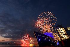 Queens 90th Birthday Royal Yacht Britannia Fireworks | Edinburgh | 21 April 2016