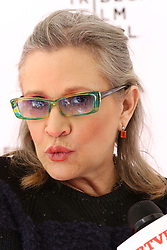 """Carrie Fisher attends the screening of """"Catastrophe"""" at the Tribeca Film Festival in New York."""