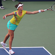 Laura Robson, Great Britain, in action against Sam Stosur, Australia, during the US Open Tennis Tournament, Flushing, New York. USA. 2nd September 2012. Photo Tim Clayton